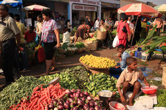 овощ рынка goa плодоовощ стоковое изображение