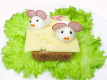 овощ сандвича сыра творческий Стоковое Изображение
