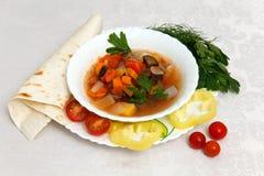 овощ супа макроса фокуса отмелый Стоковые Изображения RF