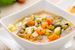 овощ супа макроса фокуса отмелый Стоковое Изображение