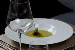 овощ супа макроса фокуса отмелый Стоковая Фотография