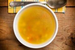 овощ супа макроса фокуса отмелый Стоковые Фото