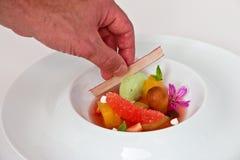 овощ супа макроса фокуса отмелый стоковое изображение rf