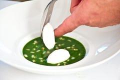 овощ супа макроса фокуса отмелый стоковая фотография rf