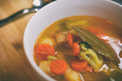 овощ супа макроса фокуса отмелый Стоковые Фотографии RF