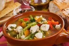 овощ супа цыпленка Стоковые Фотографии RF