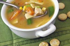 овощ супа цыпленка Стоковые Изображения