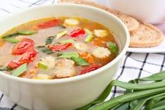овощ супа цыпленка Стоковая Фотография RF