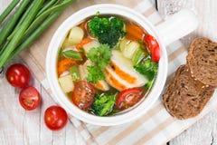 овощ супа цыпленка Стоковое фото RF