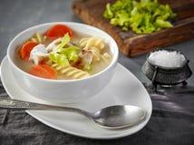 овощ супа цыпленка Стоковая Фотография