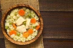 овощ супа цыпленка Стоковое Изображение RF