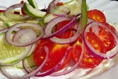 овощ томата салата смешивания салата огурца свежий Стоковые Изображения RF