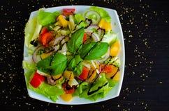 овощ томата салата смешивания салата огурца свежий Стоковые Изображения