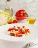 овощ томата салата смешивания салата огурца свежий Стоковое Изображение RF