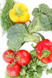 Овощ установленный для здорового диетпитания Стоковое Фото