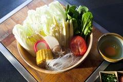 Овощ установленный для shabu shabu Стоковые Фотографии RF