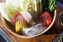 Овощ установленный для shabu shabu Стоковые Фото