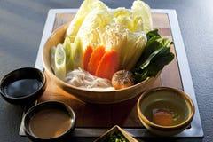 Овощ установленный для shabu shabu Стоковые Изображения RF