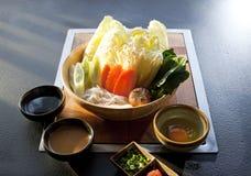 Овощ установленный для shabu shabu Стоковая Фотография RF