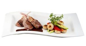 овощ шкафа мяса зажаренный в духовке Стоковое Изображение RF