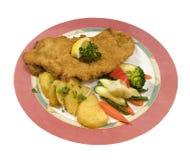 овощ schnitzel картошек Стоковое Изображение RF