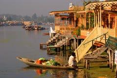 овощ srinagar продавеца Индии Кашмира Стоковая Фотография