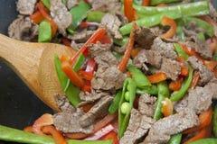 овощ stir мяса fry Стоковая Фотография