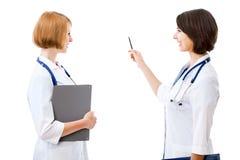 2 довольно женских доктора Стоковое Фото