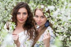 2 довольно кавказских женщины Стоковые Фотографии RF