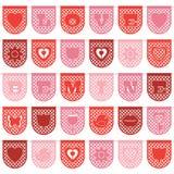 Овсянка валентинки бумажная иллюстрация штока
