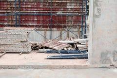 Овсянка конструкции в рабочем месте строительной площадки Стоковое Изображение RF