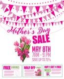 Овсянка продажи Дня матери и шаблон маркетинга талона иллюстрация вектора