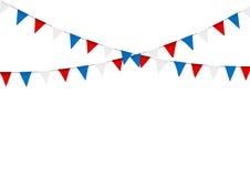 Овсянка русского флага праздничная против предпосылки партии с флагом иллюстрация вектора