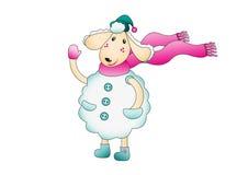 Овцы в теплых одеждах Стоковые Фото