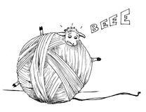 Овцы в тревоге стоковое изображение rf