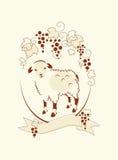 Овцы и виноградина иллюстрация вектора