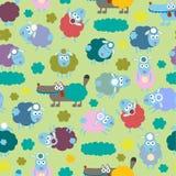 Овцы и волк Стоковое Изображение