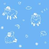 овцы картины безшовные Стоковая Фотография RF