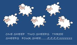 овцы картины Иллюстрация штока