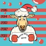 Овцы рождества иллюстрация штока