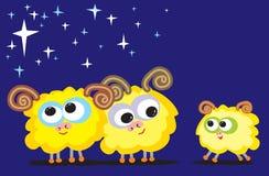 овцы семьи Стоковые Фото