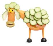 Овцы сделанные из томата и огурца Стоковое Изображение
