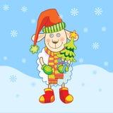 Овцы с рождественской елкой Стоковые Фото