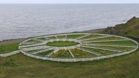 Овцы табуня загородку Исландию стоковое фото rf