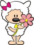 овцы удерживания цветка Стоковые Изображения