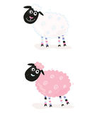 овцы шаржа Стоковые Изображения RF