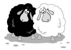 овцы шаржа Стоковые Фотографии RF