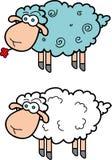 Овцы шаржа Стоковые Изображения