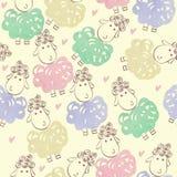 Овцы шаржа Стоковое Изображение