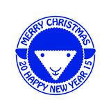 Овцы invitation new year также вектор иллюстрации притяжки corel Стоковые Изображения RF